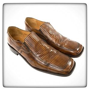 Stacy Adams Leather Slip On Loafers